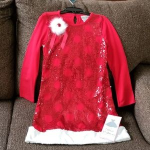 Red Holiday Dress Rare Editions NWT Girls 6